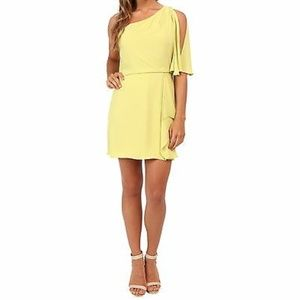 BCBGMAXAZRIA One Shoulder Draped Mina Mini Dress